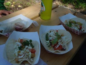 tacos, a burrito & a Jarritos